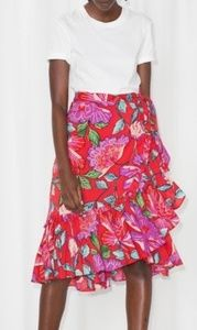 And Other Stories floral Wrap Skirt size 6 NWT